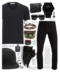 """Geen titel #1"" by rekani ❤ liked on Polyvore featuring Versace, 3x1, Caputo & Co., Nixon, Cartier, Topman, Yves Saint Laurent, Chanel, men's fashion and menswear"