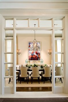 Find the latest trends and designs for Foyer Living Room Dividers. Interior Design Blogs, Contemporary Interior Design, Beautiful Dining Rooms, Interior Barn Doors, Interior French Doors, Interior Paint, Room Interior, Dining Room Design, Door Design