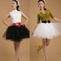 Ladies Super Fluffy Elastic Stretchy Tulle Dress Teen 3 Layer Adult Tutu Skirt E | eBay