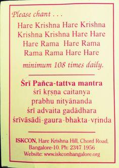 ISKON temple card