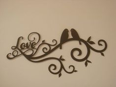 Love Bird Scroll 16 Gauge Metal Wall by Metalheadartdesign on Etsy, $42.50:
