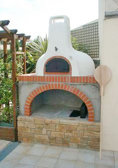 Beautiful residential oven #Breadstoneovens, #brickoven, #breadoven, #pizzaoven