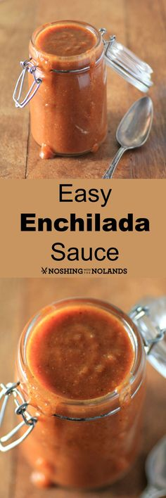 Easy Enchilada Sauce by Noshing With The Nolands. This mild enchilada sauce will come in handy for so many dishes.