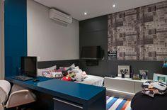 Decoração de quartos masculino solteiro – veja 40 modelos lindos + dicas! - Decor Salteado - Blog de Decoração e Arquitetura