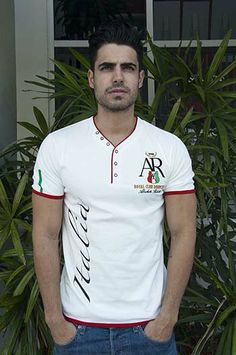 SS ROMANO White Camisa Polo, Polo T Shirts, Boys Shirts, Look Fashion, Mens Fashion, Beloved Shirts, Independent Clothing, Men's Wardrobe, Mens Tees