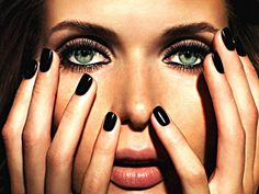 Black nail polish...New York style fashion all the way, this look never gets old..it's always fresh! Go out on a limb...try it!