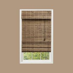 """Home Decorators Collection """"Driftwood Flatweave Bamboo Roman Shade - 48 in. W x 72 in. L""""-0259548 at The Home Depot"""