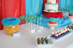 Cat in the Hat Birthday Party Ideas | Photo 1 of 25 | Catch My Party