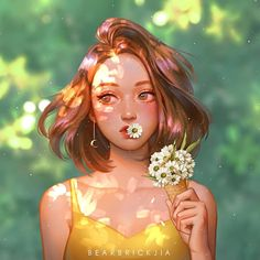 Karmen Loh is a freelance artist from Malaysia. She is into creating character digital paintings, video and image processes but mostly into character art. She loves dreamy and whimsical things. Character Design Cartoon, Cartoon Art Styles, Character Art, Digital Art Girl, Digital Portrait, Portrait Art, Girl Portraits, Digital Art Anime, Fantasy Girl