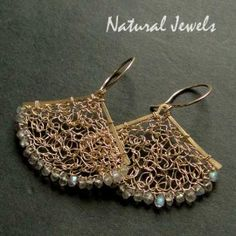 Lacy Labradorite - Earrings handcrafted from 14K Goldfilled wire and the gemstone Labradorite - Made by Natural Jewels
