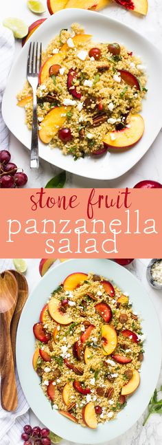 This Quinoa Stone Fruit Salad is a beautiful summer salad loaded with peaches and plums and drizzled with a maple lime dressing that comes together in just 20 minutes! via http://jessicainthekitchen.com