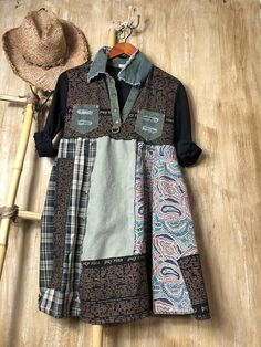 Med Up cycled ladies dressrefashioned repurposed clothing