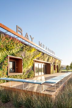 garrybelinsky:  An amazing living wall installation at the Bay...