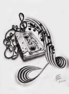 Lost tapes music tattoo design                                                                                                                                                                                 Mehr