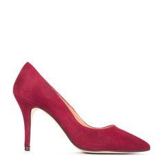 #zapatos #salón #tacón de la nueva colección #AW de #pedromiralles en color #burdeos #shoponline