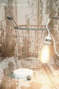 Cool DIY on metal wire basket pendant lights.