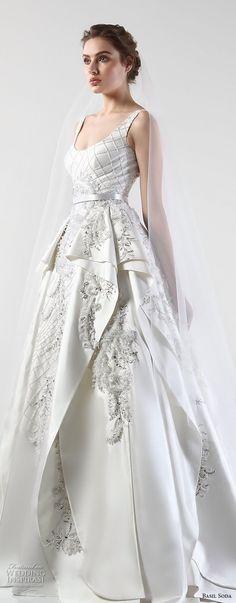 basil soda 2017 bridal sleeveless scoop neck full embellishment layered skirt glamorous ball gown wedding dress chapel train (5) zv -- Basil Soda 2017 Wedding Dresses