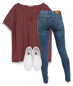 """""""Untitled #153"""" by lhnlila on Polyvore featuring Zara, Levi's and Vans"""
