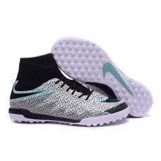 separation shoes 92d65 b878e chaussure foot salle Nike Hypervenom Phantom II TF Blanche Noir Verte Glow  pour Homme pas cher