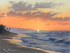 """Sunset Beach"" oil painting of North Shore Sunset Beach in Hawaii 
