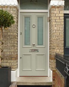 Front Door Paint Colors - Want a quick makeover? Paint your front door a different color. Here a pretty front door color ideas to improve your home's curb appeal and add more style! Front Door Porch, Wooden Front Doors, House Front Door, Painted Front Doors, The Doors, Up House, Front Entry, Entry Doors For Sale, Front Door Steps