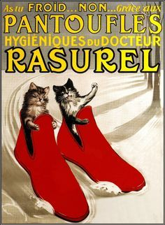 vintage french cat posters - Google Search