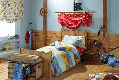 Ahoy, matey! This shipwreck bedroom is the perfect place for your little pirate to find treaure.