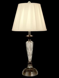 "Vena Crystal 27.5"" H Table Lamp with Empire Shade"