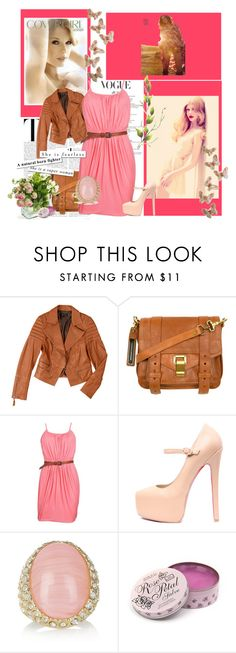"""proude"" by brookidy ❤ liked on Polyvore featuring COVERGIRL, daria, Baukjen, Proenza Schouler, Hoss Intropia, Kenneth Jay Lane, Rose & Co., vintage jewelry, brown and leather"