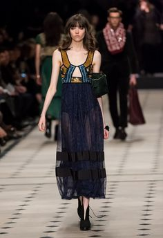 Burberry Brings Back Boho With a Riot of Patchwork and Prints: If other London Fashion Week designers embraced the 1970s, Christopher Bailey got down on one knee, confessed his undying love, and proposed.