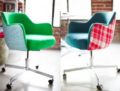 Customizing your office chairs | Oh Joy Studio by Emily Henderson | Photos by Zeke Ruelas