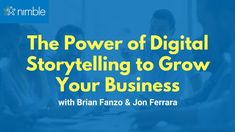 In this webinar, Brian Fanzo shares actionable tips about using storytelling to grow and nurture your community and your business. Social Networks, Social Media, Digital Storytelling, Business Sales, Growth Hacking, Marketing Automation, Cloud Based, Sales And Marketing, Growing Your Business