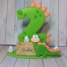 Kids Gift Bags, Fondant Letters, Die Dinos Baby, Cake Decorating With Fondant, Fondant Animals, Birthday Cake Toppers, Elmo, Salvador, Baby Shower
