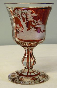 Victorian Bohemian Goblet