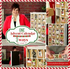 Sassy Style Redesign: 1 Advent Calendar done 3 different Ways    With the Christmas season quickly approaching, advent calendars are on Tausha...