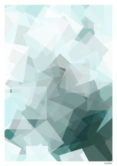 Krystal grøn (50x70) via JULIE MUNK. Click on the image to see more!
