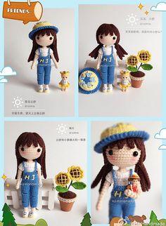[ 멜빵바지소녀 ] 이미지 출처 및 무료도안 출처 : http://www.ravelry.com 원작 명칭이 Yun Shu인데 제...