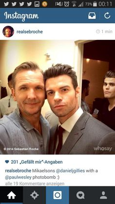 """PAUL WESLEY""""S LOOK____haha  The Originals and Paul in the back"""
