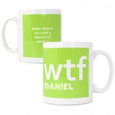 WTF Slogan Mug | Mugs & Teacups | Exclusively Personal