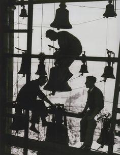 Repairing the bells of Potsdam, Germany, 1930