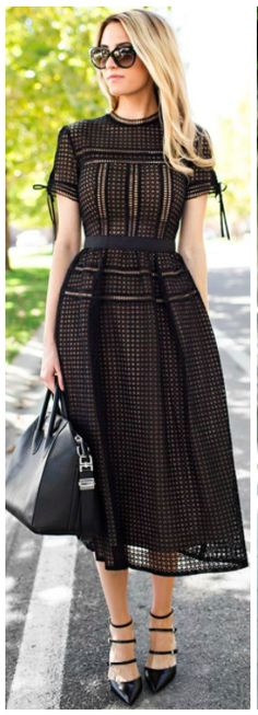 Black patterned dress