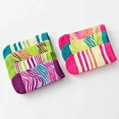 Pink Cookie 7-pk. Zebra No-Show Socks - Girls $6