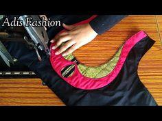 Paithani saree blouse back neck design cutting and stitching back neck. saree blouse back neck design. New Saree Blouse Designs, Patch Work Blouse Designs, Simple Blouse Designs, Blouse Back Neck Designs, Stylish Blouse Design, Churidar Neck Designs, Designer Blouse Patterns, Sari, Stitching