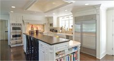 Kitchen Layout - White, Island Ideas 1B