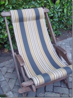 Pretty outdoor chair for the backyard.  Chair was free - I simply replaced the sling part.  Good for napping!