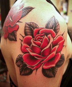 rose tattoo | Tumblr ~ Tristan's birth flower but blue