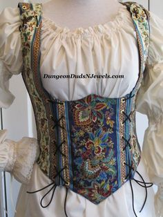 DDNJ Choose Fabric Renaissance Underbust Corset Style Bodice Reversible Plus Custom Made ANY Size Renaissance Pirate Wench Costume Medieval Renaissance Fair Costume, Medieval Costume, Renaissance Clothing, Medieval Dress, Historical Costume, Historical Clothing, Pirate Wench Costume, Grandeur Nature, Plus Size Dresses