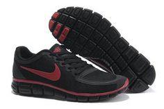 Nike Free 5.0 V4 Shoe Black Team Red Mens