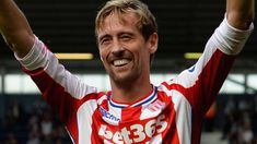 Being 6ft 7ins tall can't hurt - Peter Crouch enters the Guinness Book of Records for most headed goals in the Premier League - with 51 so far for teams including Liverpool, Tottenham, Aston Villa, Portsmouth and Stoke.