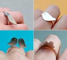 Bird rings. Cute!